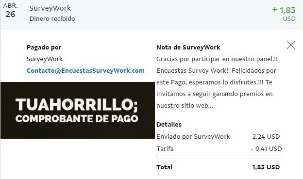 nuevo pago survey