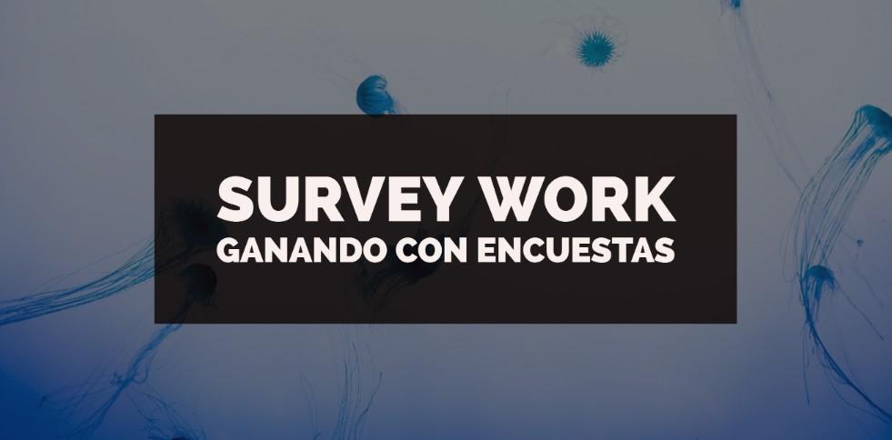 Survey Work Gana dinero con encuestas y mas tareas