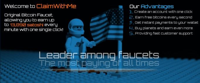 ClaimWithMe consigue 3000 satoshis cada 150 minutos