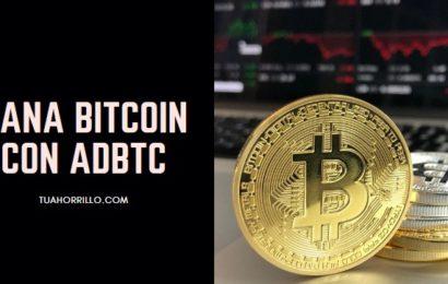 adBTC [BITCOIN GRATIS] rapidamente y de forma sencilla🤑