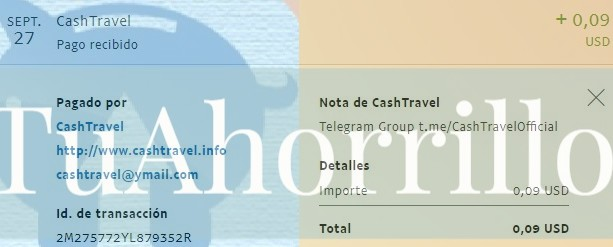 cashtravel 2º pago