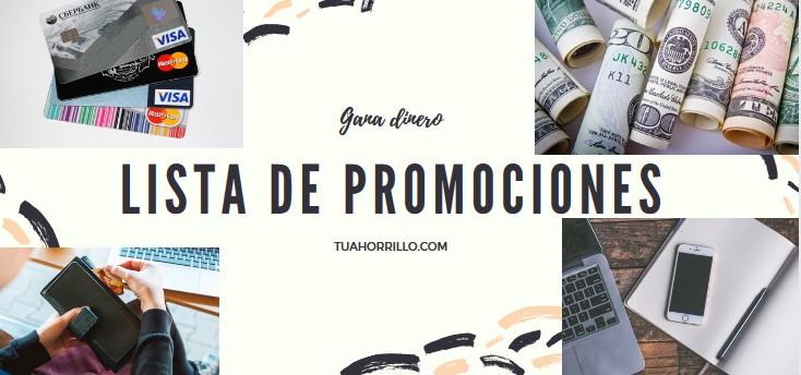🤑Lista de Promociones gana dinero gratis con ofertas